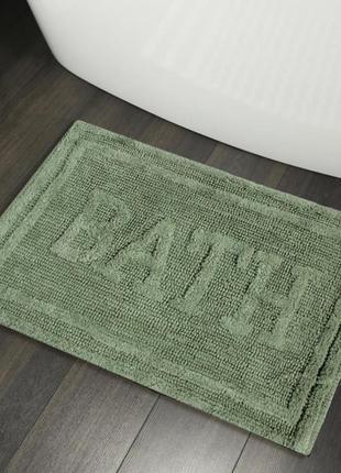 Хлопковые коврики для ванной коврик в ванную хлопок зеленый