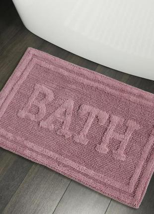 Хлопковые коврики для ванной коврик в ванную хлопок розовый