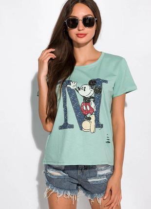 Женская футболка -  100 % хлопок