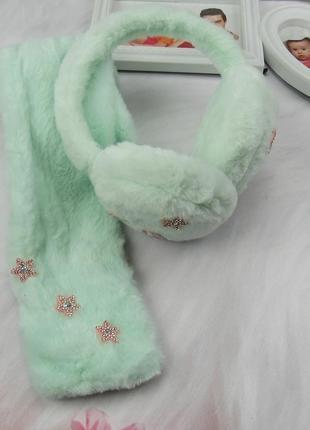 Набор наушнички +шарф на девочку.