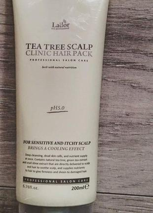 Маска-пилинг Tea Tree Scalp Hair Pack от La'dor
