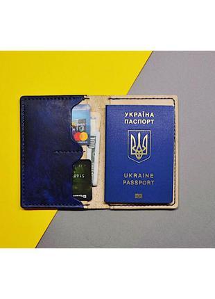 2в1 кошелек+обложка на паспорт ручной работы!