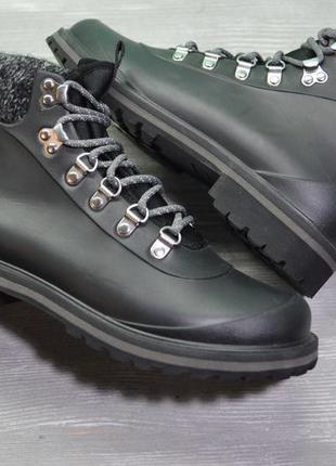 Ботинки на дождливую погоду с утеплением стелька 25.5-26 см!
