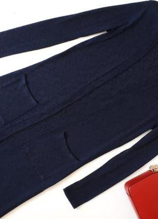 Темно-синий кардиган yessica длина миди удлиненный