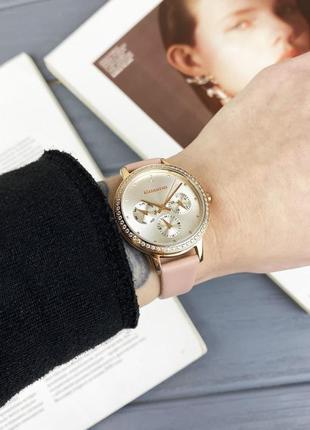 Женские наручные часы guardo с кожаным ремешком