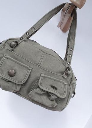 Женская сумка Terranova цвета хаки милитари стиль