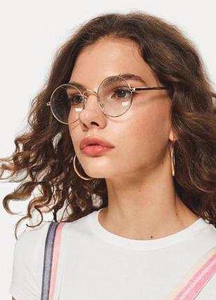 Имиджевые очки нулевки круглые оправа