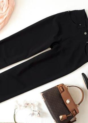 Черные женские брюки VERSACE оригинал высокая посадка прямые штан
