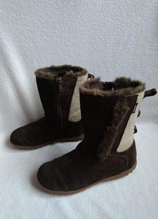 Quechua оригинальные ботинки кожаные сапоги 35