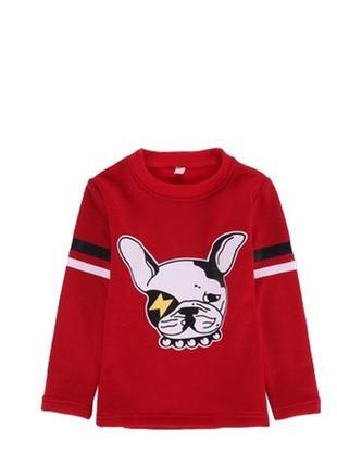 Кофта детская зимняя, на флисе красного цвета с собачкой
