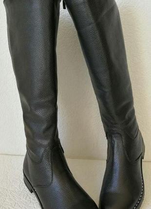 Женские зимние сапоги до колена качественная натуральная кожа ...