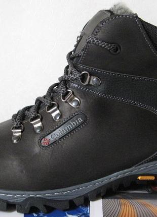 Зимние мужские ботинки большого размера натуральная кожа гиган...