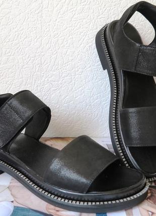 Натуральная кожа сатин микроблеск женские босоножки сандалии т...