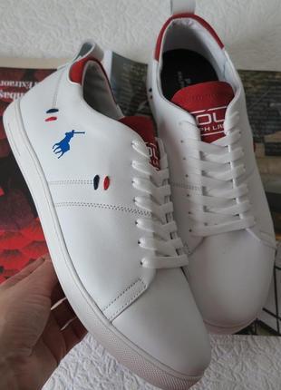 Натуральная кожа мужские белые кеды кожаные спортивные туфли с...