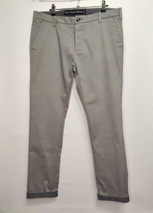 Denim co. серые стрейчевые брюки чиносы