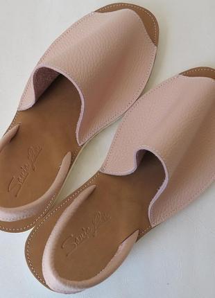 Натуральная кожа сандалии испанки стильные женские летние босо...