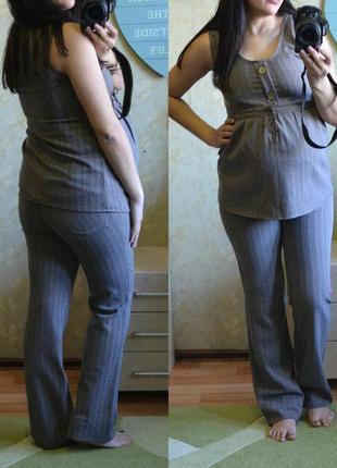 Брючный костюм для беременных, ткань слегка тянется