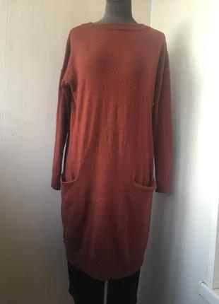 Тёплое шерстяное платье туника, натуральная шерсть, франция la...