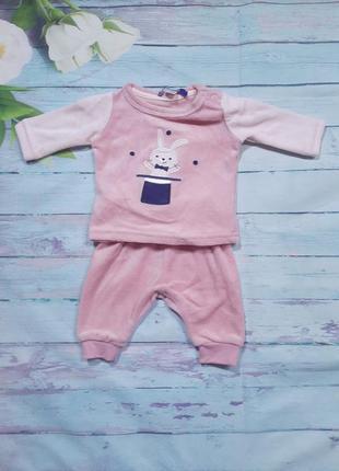 Теплый костюм новорожденной девочке