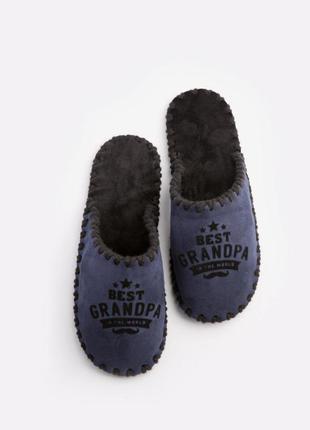 Мужские домашние тапочки для дедушки