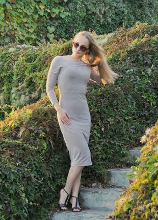 Идеальное осень весна платье миди под замш кожу