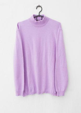 Зимний осенний шерстяной кашемировый свитер с длинным рукавом ...