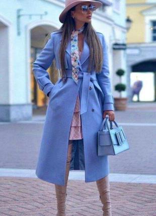 Кашемировое пальто-тренч. качество lux