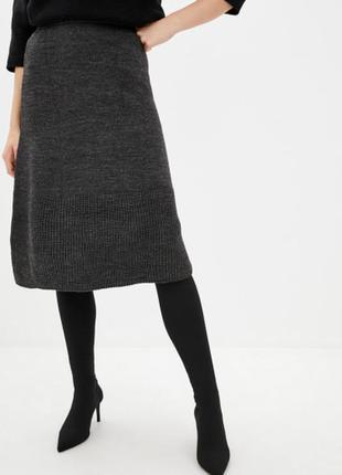 Вязаная юбка а-силуэта