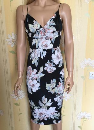 Новое с биркой платье миди на тонких бретельках в цветы edge р...