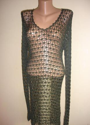 Ажурная сетка туника -платье    44-46 р.