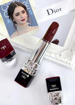 Dior rouge помада # 781 enigmatic