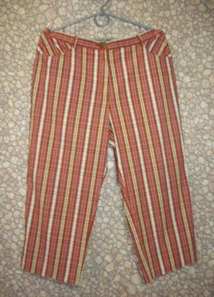Полосатые  брюки -бриджи     7\8