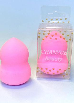 Фігурний спонжик для макіяжу, рожевий к. 9001