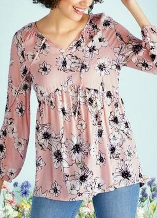 Лёгкая блуза в цветочный принт