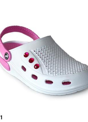 Сабо, кроксы женские, белые, р. 37 - 41; медицинская обувь, 11...