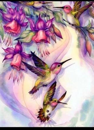 """Набор для картины по номерам без рамы """"птицы"""""""
