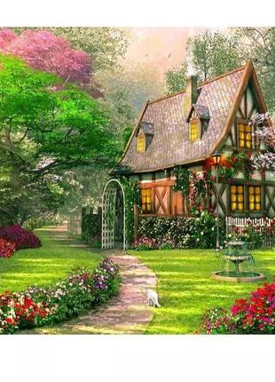 """Набор для картины по номерам """"дом"""" без рамы"""