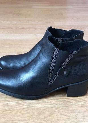 Кожаные ботинки rieker 42 размера в идеальном состоянии