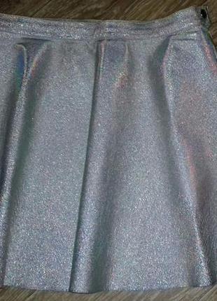 Трендовая кожаная юбка