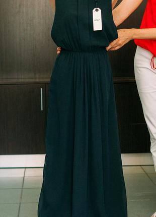 Женское платье синее в пол, only, м (46)