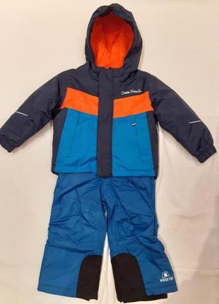 Зимний термо-комплект - куртка и полукомбинезон для мальчика