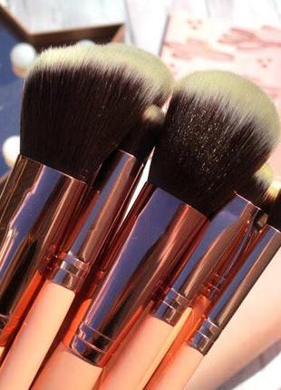 Набор кистей в косметичке кисти для макияжа bh cosmetics 14 ш...