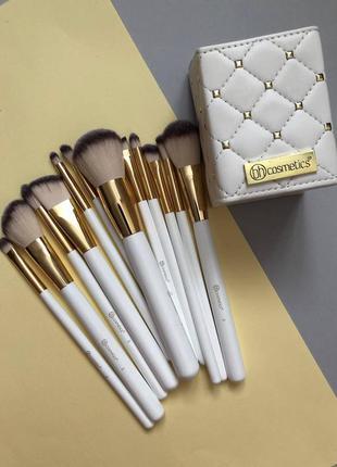Набор кистей в подставке кисти для макияжа bh cosmetics 12 шт...