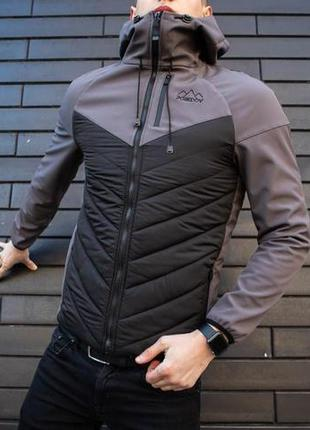 "Куртка pobedov jacket ""soft shell combi v2"" (вк(р)00130) grey-..."