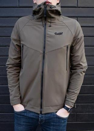 "Весенняя куртка pobedov jacket ""soft shell"" khaki"