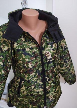 Милитари камуфляжная хаки военная защитная куртка ветровка оли...