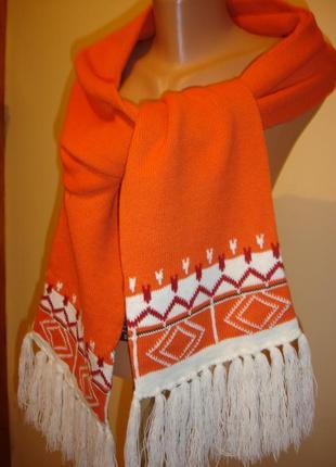 Длинный шарф с орнаментов