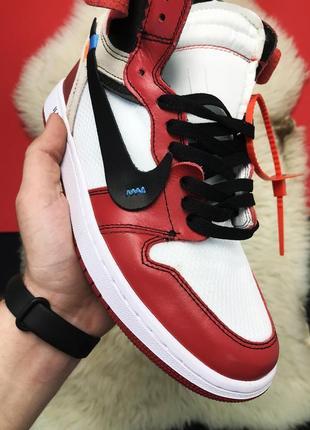 Кроссовки мужские nike air jordan 1 red x off white