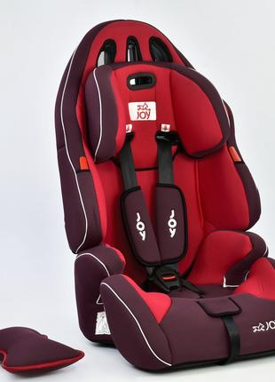 Автокресло универсальное с бустером Joy, красное (9-36 кг)