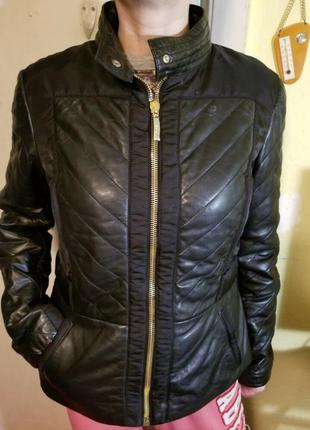 Куртка byblos кожа-текстиль new.